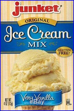 NEW Junket Ice Cream Mix Bundle 2 Vanilla 2 Chocolate 2 Strawberry 6 Total