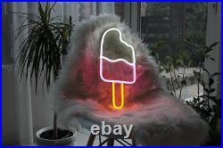 Neon Sign Ice Cream LED Light Bar Pub Wall Room Decor Shop Cafe Chocolate Lamp