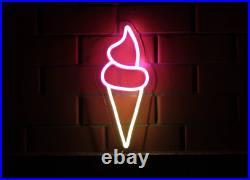 Neon Sign LED Ice Cream Light Bar Pub Wall Room Decor Shop Cafe Chocolate Lamp