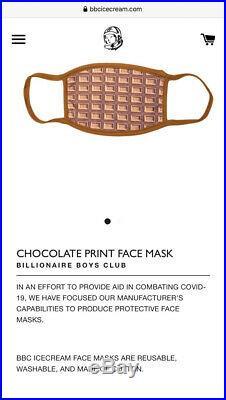 New BBC Billionaire Boys Club Ice Cream Chocolate Waffle Face Mask