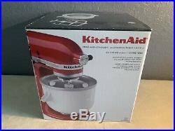 New! KitchenAid 2-Quart Ice Cream Sorbet Maker Mixer Attachment KICA0WH