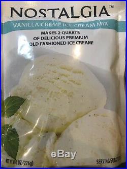 Nostalgia 12 8oz Premium Ice Cream Mixes 6 Chocolate, 5 Vanilla, 1 Strawberry