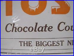 Old FROSTICK Chocolate Covered Ice Cream Paper Sign Print 5c stick 5c stick