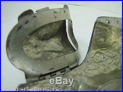Old SHOE BOOT Figural Mold chocolate ice cream food multiple hinges metal ornate