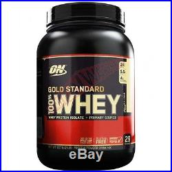 Optimum Nutrition 100% WHEY 2lbs-Milk Chocolate, Banana Cream Or Vanilla IceCream