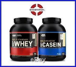 Optimum Nutrition or Standard 100% protéine Lactosérum 2.27Kg + caséines 1.82kg