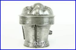 Pewter Antique Three Piece Fruit Basket Ice Cream or Chocolate Mold #38747