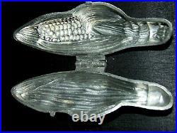 Pewter Ice Cream Molds Lot 7 Vintage Corn Turkey Rose Cupid Santa Chocolate Fish