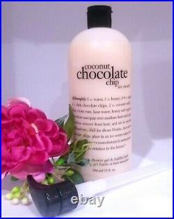 Philosophy Coconut Chocolate Chip Ice Cream Shower Gel 32 oz ORIGINAL-SEALED