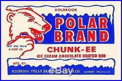 Polar Brand Chunk-Ee Ice Cream Chocolate Coated Bar' Vintage Advertisement