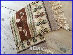Pretty Chocolate Ice Cream Color Norwegian Wool Table Runner From Norway