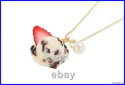 Q-Pot. Cue Pot Takashimaya Limit Cookie Cream Ice Necklace Chocolate Strawberry