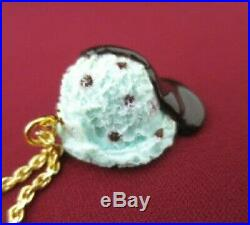 Q-pot Necklace Pendant Accessories Ice Cream Mint Chocolate Sauce oc1214