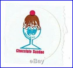 RARE Scratch & Sniff Vintage Sticker Canadian Goofy Chocolate Sundae Ice Cream