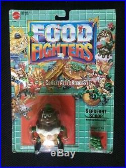 RARE VTG Mattel Food Fighters Sergeant Scoop 1989 Ice Cream Cone Chocolate NIB