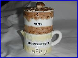 Rare 1959 Holt Howard Ice Cream Sundae Set-Chocolate Butterscotch Nuts & Berries