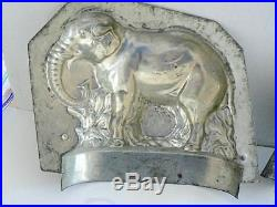 Rare Antique 9 Marked Sommet France African Elephant Chocolate Ice Cream Mold
