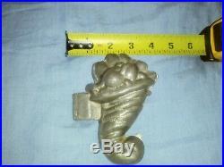 Rare Antique Primitive Pewter Cornucopia Ice Cream/Chocolate Mold cir. 1910