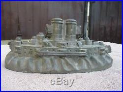 Rare Large Antique Ice Cream Mold Battleship Chocolate Mold. Nice Piece