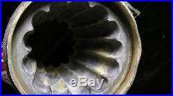Rare Mid 19th C. Pewter Fluted Ice Cream, Chocolate Mold, Watts & Harton, London