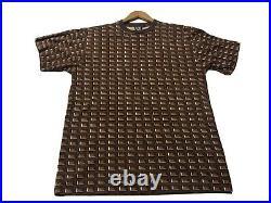 Rare OG BBC Billionaire Boys Club Ice Cream Chocolate Allover Waffle T Shirt XL