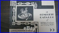 Rare Puss And Boots Pewter Ice Cream Mold with 3 Ice Cream/ Chocolate Mold Catalog