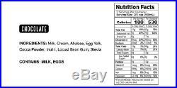 Real Good Foods, Super Premium Ice Cream, Chocolate, Pint 8 Count