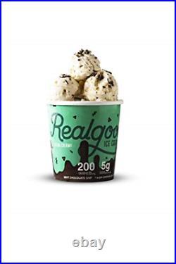 Real Good Foods, Super Premium Ice Cream, Mint Chocolate Chip, Pint 8 Count