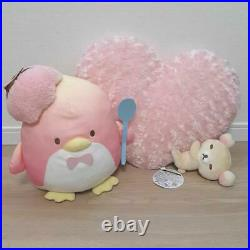 Rilakkuma Goodnight Loin Heart Cushion And Sam's Chocolate Ice Cream Plush Doll