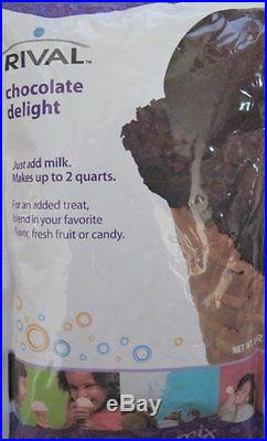 Rival Frozen Delights Chocolate Ice Cream Mix Single Package, New