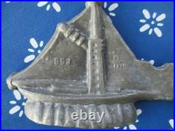 SAILBOAT Pewter ICE CREAM chocolate Mold #553 DES COP'D 1899