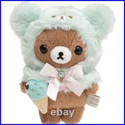 SAN (SAN-X) Rilakkuma Happy ice Cream Stuffed Toy Plush Brown Bear Chocolate Mi