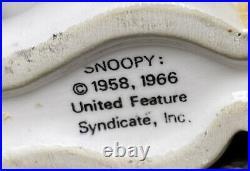SNOOPY Vintage Peanuts Ice Cream 1958 1966 Chocolate Cone Bank Coin