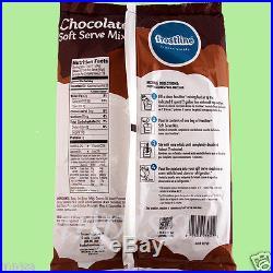 SOFT SERVE MIX, 6 Bags x 6 lbs, CHOCOLATE, ICE CREAM MIX, FROSTLINE LACTOSE FREE