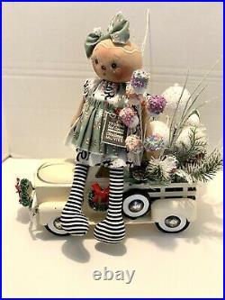Sharyn Priester Hot Cocoa Doll and Ice Cream Truck Centerpiece, Christmas center