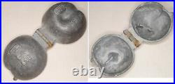 Six different antique c1900 French pewter sorbet ice cream chocolate moulds mold