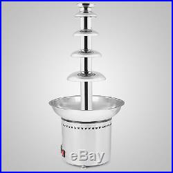 Stainless Steel 5 Tiers Chocolate Fountain 27 68cm Kitchen Home Ice Cream New