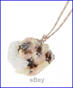 Strawberry Chocolate Whipped Ice Cream Necklace Q-pot Japan Import Free shipping