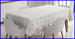 Sweet Ice Cream Tablecloth Ambesonne 3 Sizes Rectangular Table Cover Decor