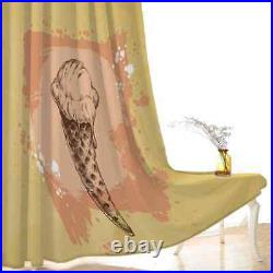 Sweet cone ice cream with chocolate Printing 3D Blockout Curtains Fabric Window