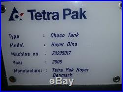 TETRA PAK Tank Kettle Hoyer Dino Chocolate Melter Ice Cream Water Jacketed 2006