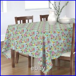 Tablecloth Candy Sweets Icecream Donuts Popcorn Chocolate State Cotton Sateen