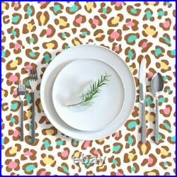 Tablecloth Leopard Ice Cream White Chocolate Blue Pink Animal Cotton Sateen