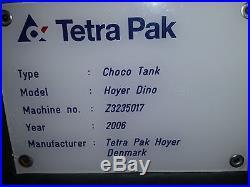 Tetra Pak Choco Tank Hoyer Dino Chocolate Coater Ice Cream Water Jacketed 2006
