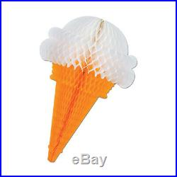 Tissue Ice Cream Cones asstd chocolate, strawberry, vanilla- Pack of 12