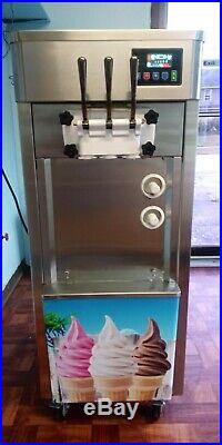 Tongtuo 3 Flavor Soft Serve Ice Cream Machine. 110V. Vanilla, chocolate, twist