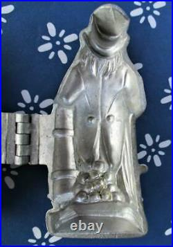 UNCLE SAM Pewter ICE CREAM chocolate Mold E. & Co. N. Y. #1073 shotgun & canon