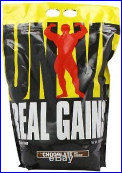 UNIVERSAL NUTRITION REAL GAINS 10.6 LB weight protein Chocolate Ice Cream