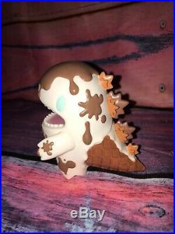 Unbox Monster Ziqi Dino x Chocolate Ice Cream Color Version Sofubi Vinyl Figure