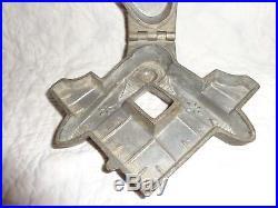 Unique Vintage Hinged Masonic Compass Pewter Ice Cream Mold, Chocolate (j)